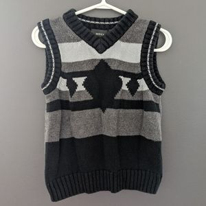 Grey & black sweater vest